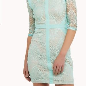 Xtaren Dress Mint Lace NWT S